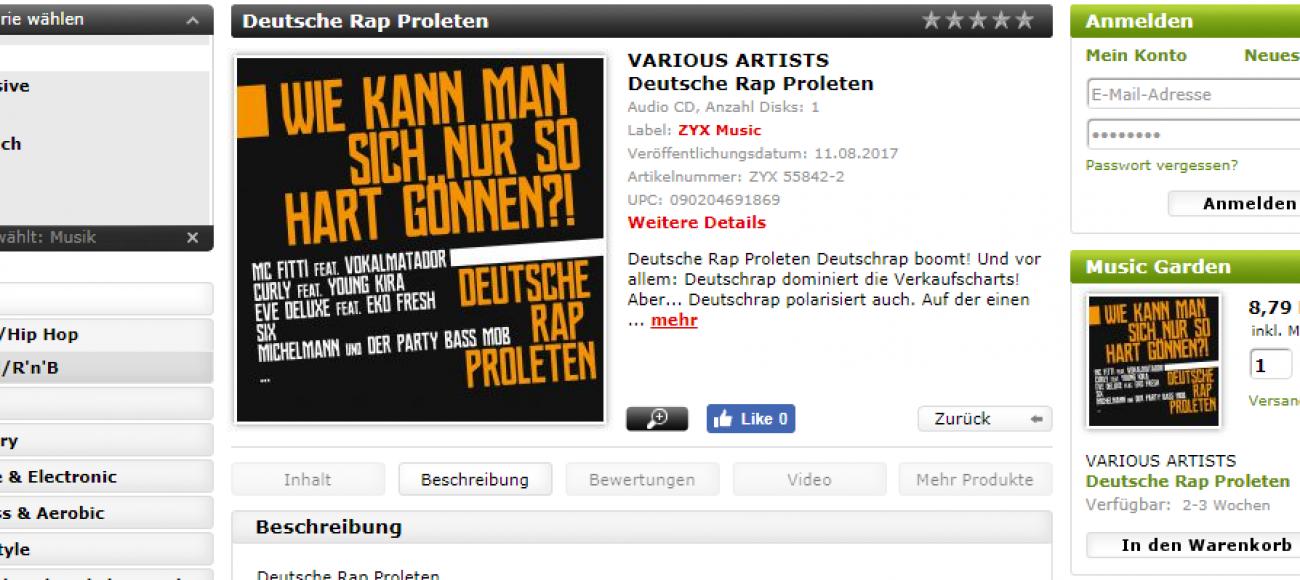 Release des Jahres: Deutsche Rap Proleten (Wie kann man sich nur so hart gönnen?!)