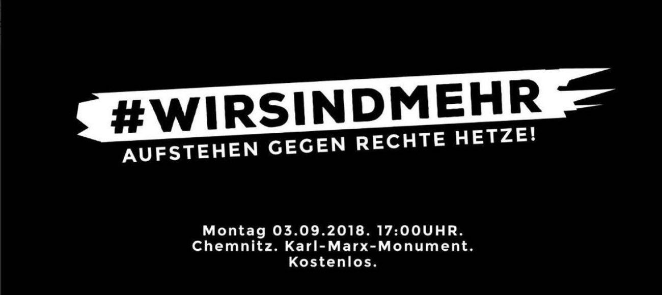 #wirsindmehr – 03.09.2018 in Chemnitz